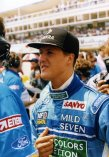 Michael Schumacher (Benetton) na katalánském okruhu u Barcelony (1994)