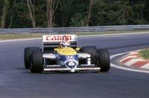 Nelson Piquet (Williams FW11 Honda V6 Turbo), vítěz první Velké ceny Maďarska 1986