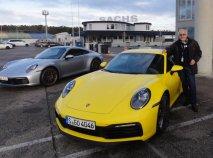 Nové vozy Porsche 911 Carrera S (a 4S) při dynamickém představení na Hockenheimu