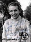 Francois Mazet, účastník první Velké ceny Francie na okruhu Paul Ricard (podobizna 1970 z formule 2)