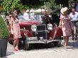 Hispano-Suiza K6 s karoserií Saoutchik (1936) přijíždí před porotu
