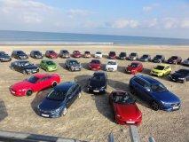 Zúčastněné typy automobilů na pláži v Tannisby (proti loňsku na jiném místě)