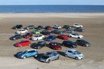 Zúčastněné typy automobilů na pláži v Tannisby