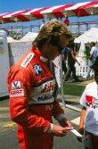 Bývalý jezdec formule 1 Kevin Cogan byl po kolizi až dvanáctý (Schaefer/Playboy March 88 Cosworth)