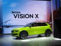 Škoda Vision X Concept se představil hned třikrát (na firemním preview Škoda Auto, na večírku VW Group a samozřejmě v Palexpu)