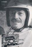 Henri Greder, úspěšný soutěžní i okruhový jezdec, kdysi partner Beaumontové, se objevil i ve filmu Muž a žena (Ford Mustang v Rally Monte Carlo)